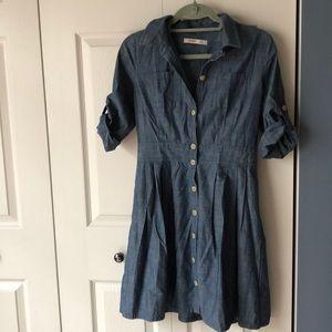 Old Navy denim button down dress, 6